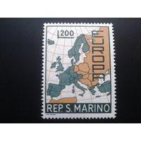 Сан-Марино 1967 Европа карта Европы полная