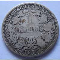 Германия 1 марка 1875 отметка монетного двора A - Берлин