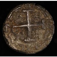 8 РЕАОВ, 8 Reales 1734 год. 1700 ~ 1746 - Испанский колониальный период. Филипп V