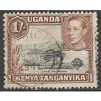 Кения Уганда и Танганьика. Король Георг VI. Озеро Найваша. 1938г. Mi#66.