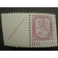 Финляндия 1978 стандарт с купоном , герб