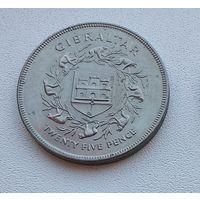 Гибралтар 25 новых пенсов, 1977 25 лет правлению Королевы Елизаветы II 7-9-1