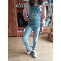 Комбинезон джинс крутой на девочку 9 лет