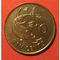 Сейшелы 10 центов 2003