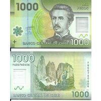 Чили 1000 песо 2012г. пластик Гуанако фауна.  Состояние UNC .    распродажа