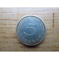 5 pfennig 1981 J