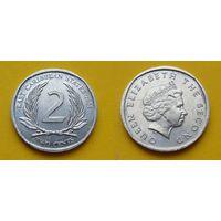 Британские Карибские острова 2 цента 2008г. аллюминий