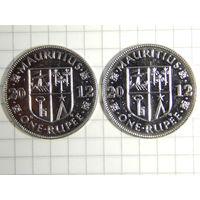 Маврикий 1 рупия 2012 (цена за монету)