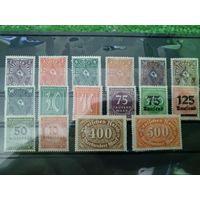 Сборный лот марок веймарская республика