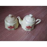 Сахарница и чайник  Липтон.