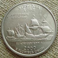 25 центов 2000 США - Вирджиния