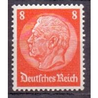 Германия Стандарт Гинденбург 8 pf (**) 1934 г