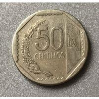 Перу 50 сентимо 2002 г.