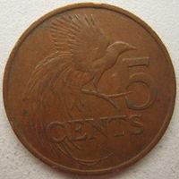 Тринидад и Тобаго 5 центов 1983 г.