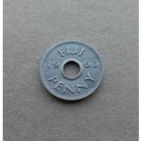 Фиджи, 1 пенни 1963 г., Елизавета II