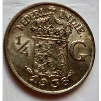 Голландская Ост-Индия 1/4 гульдена, 1938 1-7-37