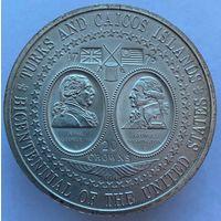 20 крон 1976 Тёрк и Кайкос (большая монета)