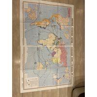 Физические карты по урокам средней школы.