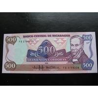 НИКАРАГУА 500 КОРДОБА 1985 ГОД UNC