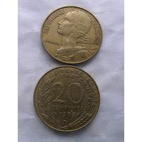 Франция 20 сантим 1983г   распродажа