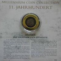 """YS: Индия, династия Газневидов, серебряная монета, XI век, серия """"Монеты тысячелетия"""""""