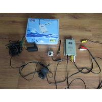 Мини видео камера с радио ресивером цветная