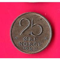 19-09 Норвегия, 25 эре 1977 г.