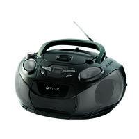 Магнитола VITEK VT-3456 BK кассетная с CD/MP3/FM (с УКВ)
