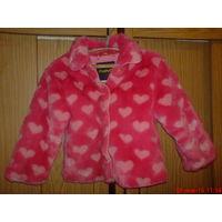 Куртка меховая на байке для девочки.