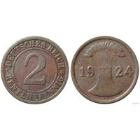 YS: Германия, 2 рентенпфеннига 1924G, KM# 31
