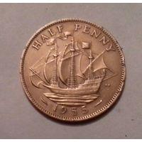 1/2 пенни, Великобритания 1955 г.