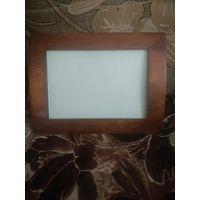 Рамка деревянная со стеклом под фото 180х130