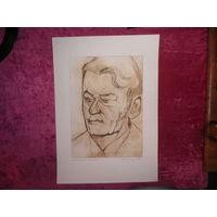 Офорт 42х30 Портрет М В Настеко.1975 год.(подпись автора)Германия.Из личного архива( коллекции)подполковника М.В.Настеко.(см.фото)