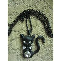 Кулон Черный кот новый