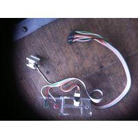 Панель для включения компьютера в сборе с кнопкой и сигнальными лампочками