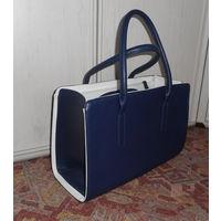 Отличная синяя сумка 35х24 см. Хорватия . Много отделений и карманов . Новая