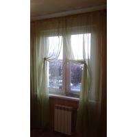 Занавески шторы 45х255 светло-зеленые