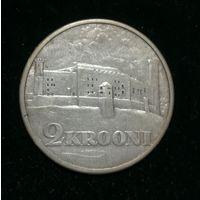 2 кроны 1930г, серебро.