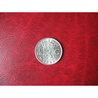 1/10 гульдена 1941 (S) год Нидерландская (Голландская) Индия (СОСТОЯНИЕ!!!) серебро