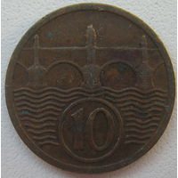 Чехословакия 10 геллеров 1926 г.