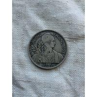 Французский Индокитай 1 пиастр 1947 г.