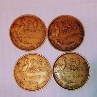 20 франков Франции четвертая республика