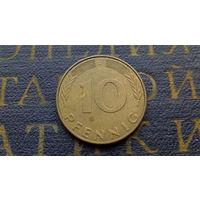 10 пфеннигов 1989 (J) Германия ФРГ #05