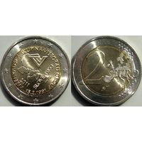 Словакия, 2 евро 2011 20 лет Вышеградской группе. UNC.