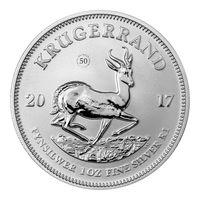 "ЮАР 1 рэнд 2017г. ""Крюгеррэнд/Krugerrand Premium"". Монета в капсуле; подарочном футляре; сертификат.  СЕРЕБРО 31,107гр. (1 oz)."