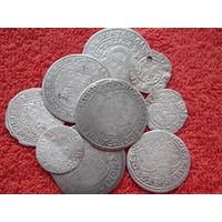 Сборный лот монет ( Серебро ) .