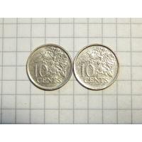 Тринидад и Тобаго 10 центов 2006 цена за монету единственная на ау