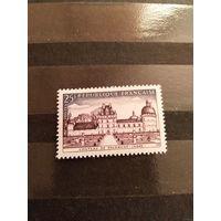 1957 Франция архитектура клей MNH** 4-13