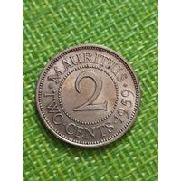 Маврикий 2 цента 1959 г ( тир 503 тыс. )