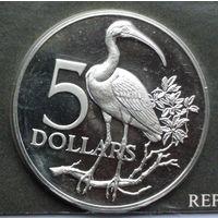 Тринидад и Тобаго 5 долларов. 1976
